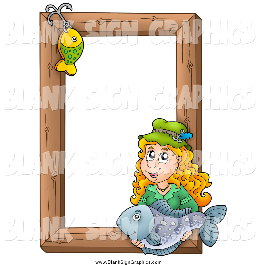 Nice fishing picture frame illustration picture frame for Fish photo frame