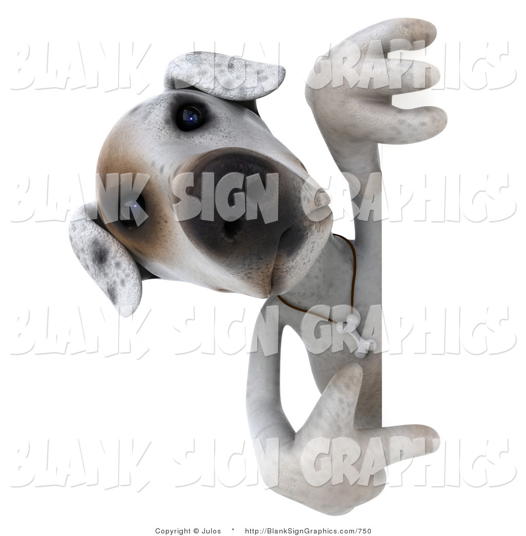 Vector Illustration of a 3d Jack Russell Terrier God Character ...