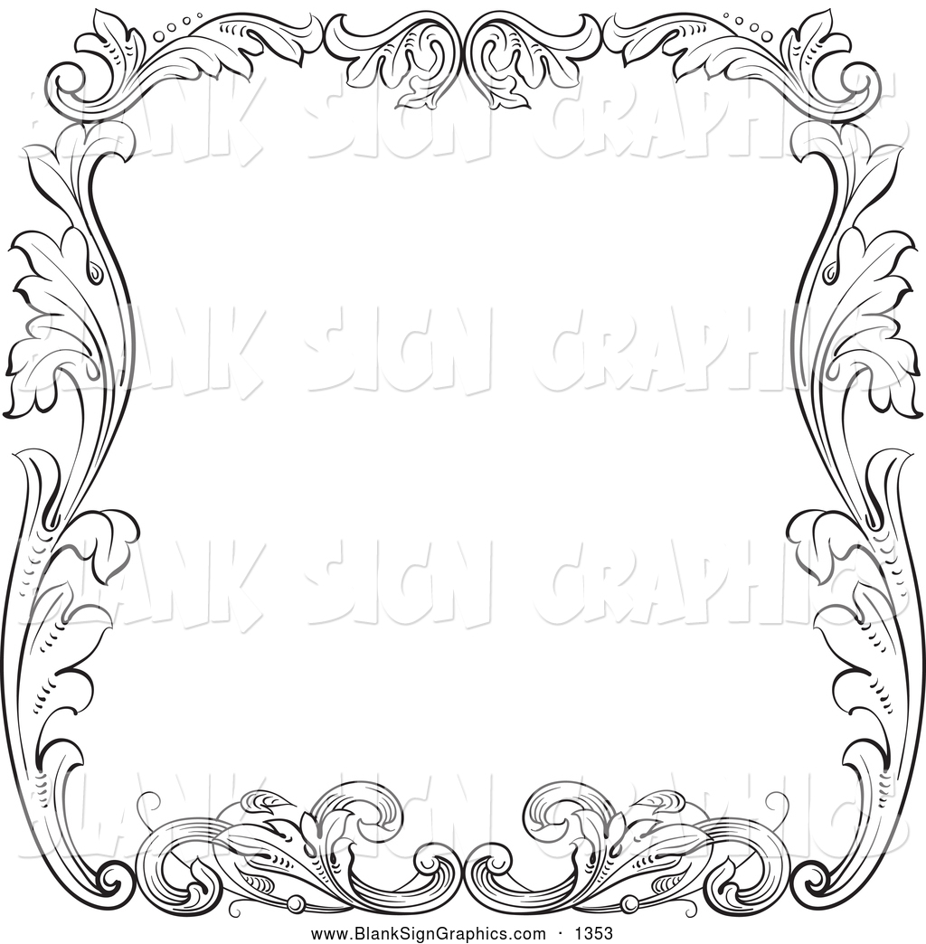 Royalty Free Floral Background Stock Blank Sign Designs