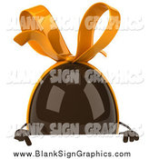 Illustration of a 3d Chocolate Egg over a Sign by Julos