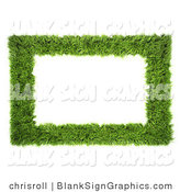 Illustration of a 3d Grass Frame Sign by Chrisroll