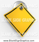 Illustration of a 3d Warning Sign on a Suction Cup by Tonis Pan