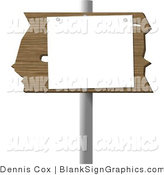 Illustration of a Blank Wooden Cedar Sign by Djart