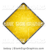 Illustration of a Blank Yellow Warning Sign by Beboy