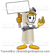Illustration of a Happy Diploma Holding a Blank Sign and Waving by Toons4Biz
