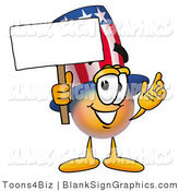 Illustration of a Happy Uncle Sam Holding a Blank Sign and Waving by Toons4Biz