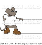 Illustration of a Mouse Presenting a Blank Sign by Djart