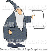 Illustration of a Wizard Holding a Blank Page by Djart
