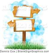 Illustration of Blank Wooden Arrow Signs by Djart