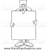 Vector Cartoon Illustration of a Black and White Male Pilgrim Holding a Thanksgiving Sign by Djart