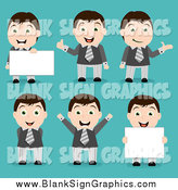 October 15th, 2014: Vector Cartoon Illustration of Happy Businessman in Different Poses by Vectorace
