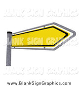 Vector Illustration of a 3d Yellow Arrow Sign by Stockillustrations
