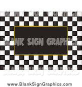 Vector Illustration of a Black and White Checkers with a Frame Background by Michaeltravers