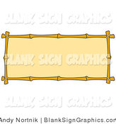 Vector Illustration of a Blank Banner with a Bamboo Border by Andy Nortnik