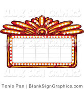 Vector Illustration of a Blank Casino or Theater Marquee Sign by Tonis Pan