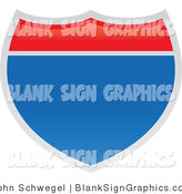 Vector Illustration of a Blank Interstate Sign by John Schwegel