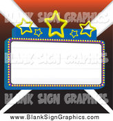 Vector Illustration of a Blank Marquee Sign with Stars, over Lights by Tdoes