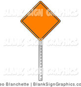 Vector Illustration of a Blank Orange Traffic Sign by Leo Blanchette