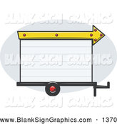 Vector Illustration of a Blank White Trailer Park Sign with an Arrow Pointing Right by R Formidable