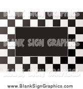Vector Illustration of a Border of Checkers Around Black Space by Michaeltravers