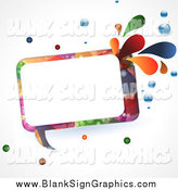 Vector Illustration of a Colourful Speech Bubble with Splashes and Bubbles by Elaineitalia