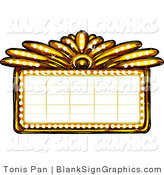 Vector Illustration of a Gold Casino or Theater Marquee Sign by Tonis Pan