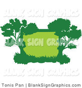 Vector Illustration of a Green Tree Frame by Tonis Pan