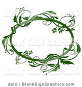 Vector Illustration of a Green Vine Frame by Dero