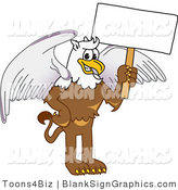 Vector Illustration of a Griffin Holding a Blank Sign by Toons4Biz