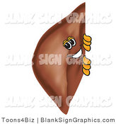 Vector Illustration of a Liver Looking Around a Blank Sign by Toons4Biz