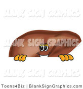 Vector Illustration of a Liver Looking over a Blank Sign by Toons4Biz