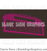 Vector Illustration of a Pink Marquee Sign on Brown by Cherie Reve