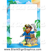 March 12nd, 2014: Vector Illustration of a Pirate Sign with an Island with Text Space by Visekart