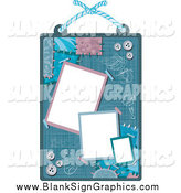 Vector Illustration of a Scrap Book Design with Buttons and Patches by BNP Design Studio