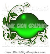 Vector Illustration of a Shiny Green Frame with Vines by Dero