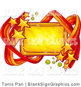 Vector Illustration of a Shooting Star Blank Sign by Tonis Pan