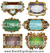 Vector Illustration of Antique Ornate Frames by AtStockIllustration