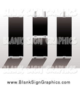 Vector Illustration of Three Black Display Signs by Michaeltravers