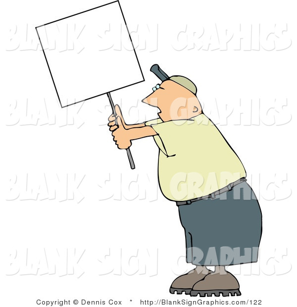 Illustration of a Man Protesting